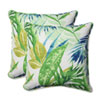 This item: Outdoor Soleil Blue/Green 18.5-Inch Throw Pillow, Set of 2