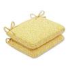 This item: Outdoor / Indoor Herringbone Egg Yolk Rounded Corners Seat Cushion (Set of 2)