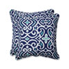 This item: Outdoor / Indoor New Damask Marine 18.5-Inch Throw Pillow (Set of 2)