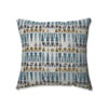 This item: Indoor Blue Sky Blue/Gold/Gray 18-Inch Throw Pillow