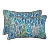 This item: Make It Rain Cerulean Blue Rectangular Throw Pillow (Set of 2)