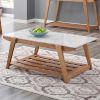 This item: Celeste White And Natural 26-Inch Cocktail Table