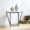 This item: Corvus White and Coffee Marble Top End Table