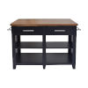 This item: Hilton Black 36-Inch Counter Kitchen Island