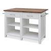 This item: Hilton White 36-Inch Counter Kitchen Island