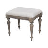 This item: Highland Park Distressed Driftwood Vanity Bench
