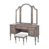 This item: Highland Park Distressed Driftwood Vanity Desk