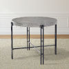 This item: Morgan Gray and Black Round Counter Table