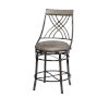 This item: Melva Gray 21-Inch Counter Chair
