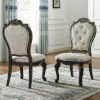 This item: Rhapsody Rich Dark Molasses and Alabaster Upholstered Side Chair, Set of 2