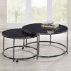 This item: Rayne Black and Chrome Cocktail Table, Set of 2