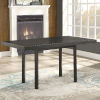 This item: Zeke Distressed Ebony 59-Inch Dining Table