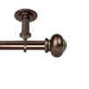 This item: Rotunda Bronze 66-120 Inches Ceiling Curtain Rod