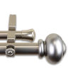This item: Rotunda Satin Nickel 120-170 Inches Double Curtain Rod