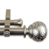 This item: Odelia Satin Nickel 160-240 Inches Double Curtain Rod