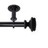 This item: Bedpost Black 48-84 Inches Ceiling Curtain Rod
