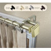 This item: Bedpost Light Gold 48-84 Inches Double Curtain Rod
