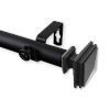 This item: Bedpost Black 66-120 Inches Curtain Rod
