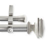This item: Bedpost Satin Nickel 120-170 Inches Double Curtain Rod