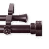 This item: Bonnet Mahogany 120-170 Inches Double Curtain Rod