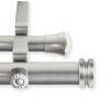 This item: Bun Satin Nickel 48-84 Inches Double Curtain Rod