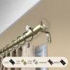 This item: Bun Light Gold 66-120 Inches Curtain Rod