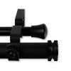This item: Bun Black 120-170 Inches Double Curtain Rod