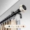 This item: Kelly Black 66-120 Inch Curtain Rod