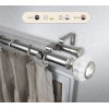 This item: Linden Satin Nickel 48-84 Inch Double Curtain Rod