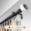 This item: Ironwood Black 28-48 Inch Curtain Rod