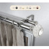 This item: Inez Satin Nickel 48-84 Inch Double Curtain Rod