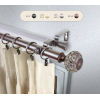 This item: Elsie Bronze 120-170 Inch Double Curtain Rod