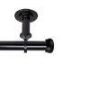 This item: Rosen Black 120-170 Inches Ceiling Curtain Rod