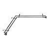 This item: Trumpet Black 66-120 Inches Corner Window Double Curtain Rod