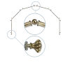 This item: Flair Antique Brass 288-Inch Six-Sided Bay Window Curtain Rod