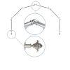 This item: Bloom Satin Nickel 288-Inch Six-Sided Bay Window Curtain Rod