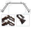 This item: Cocoa 144-Inch Bay Window Double Curtain Rod