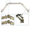 This item: Bloom Antique Brass 144-Inch Bay Window Double Curtain Rod