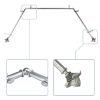 This item: Bloom Satin Nickel 144-Inch Bay Window Curtain Rod