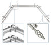 This item: Marquise Satin Nickel 144-Inch Bay Window Double Curtain Rod