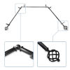 This item: Twist Black 144-Inch Bay Window Curtain Rod