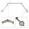 This item: Twist Antique Brass 144-Inch Bay Window Curtain Rod