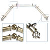 This item: Twist Antique Brass 144-Inch Bay Window Double Curtain Rod