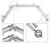 This item: Twist Satin Nickel 144-Inch Bay Window Double Curtain Rod