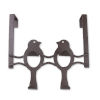 This item: Bronze Nine-Inch Over the Door Bird Organizer Four Hooks