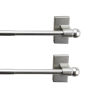 This item: Satin Nickel 28-Inch Magnetic Rod, Set of 2