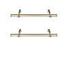 This item: Bun Light Gold 20-Inch Side Curtain Rod, Set of 2