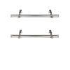 This item: Bun Satin Nickel 20-Inch Side Curtain Rod, Set of 2