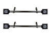 This item: Ophelia Black 20-Inch Side Curtain Rod, Set of 2