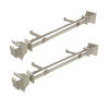 This item: Bach Satin Nickel 20-Inch Side Curtain Rod, Set of 2
